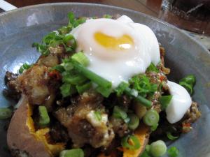 sisig and happy egg